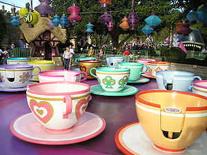 Mad Tea Party - Image: Teacups Mad Tea Party wb