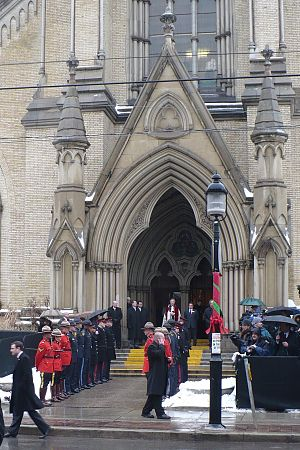 Edward S. Rogers Jr. - Guard of honour outside St. James Cathedral (funeral on December 9, 2008)