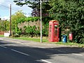 Telephone box near Stalbridge - geograph.org.uk - 1465758.jpg