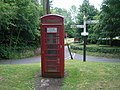 Telephone kiosk at West Monkton, looking towards The Monkton pub - geograph.org.uk - 885456.jpg