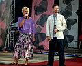 Teresa Lipowska and Kacper Kuszewski at III Meeting of Fans of the TV series 'M jak miłość' in Gdynia 2009 - 04.jpg