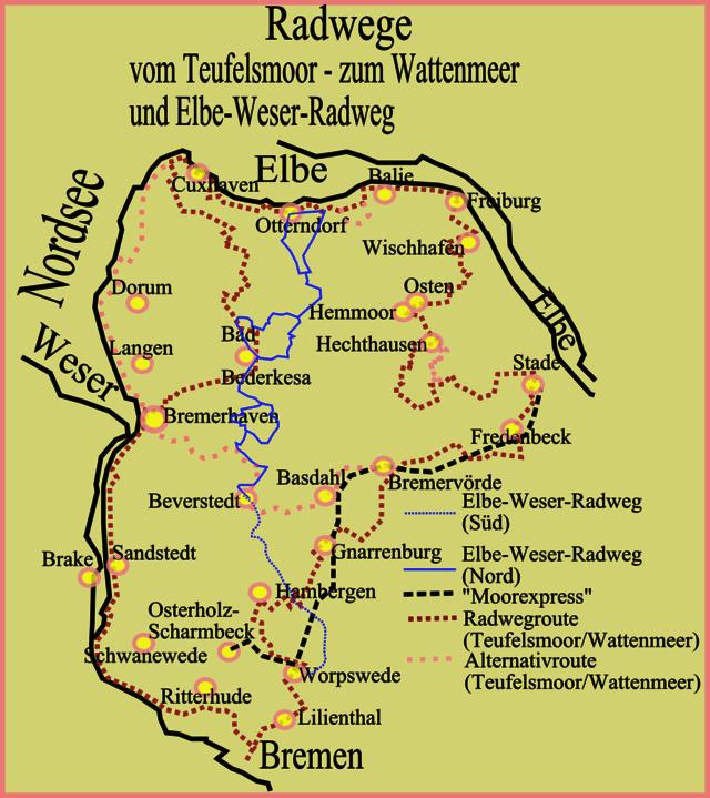 Weser Radweg Karte Pdf.Elbe Weser Radweg Wikiwand