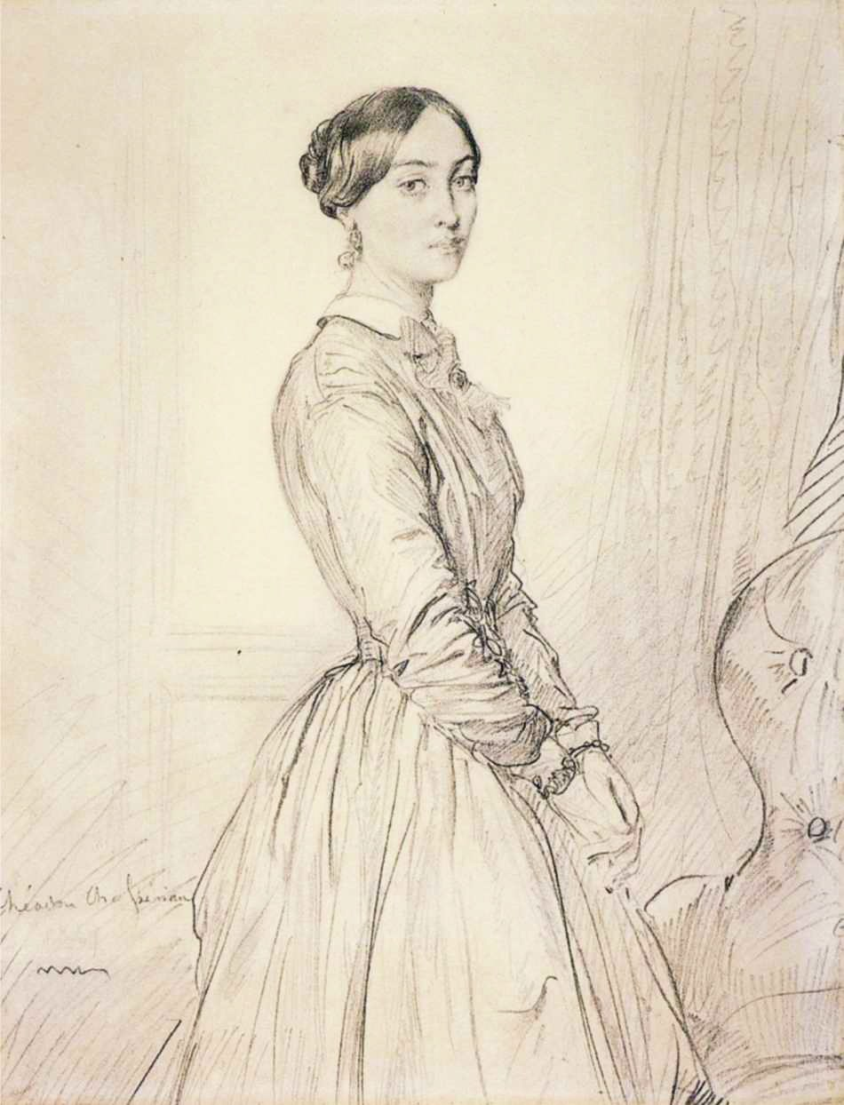 Théodore Chassériau - Portrait of Mme Borg de Balsan