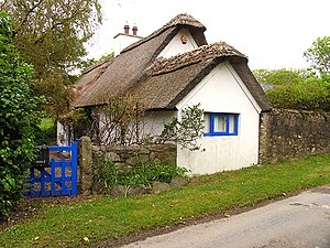 Forth and Bargy dialect - Traditional thatched cottage near Bannow Bay in Bargy