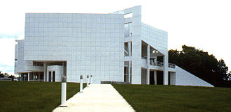 Richard Meier - The Atheneum in New Harmony, Indiana, United States.