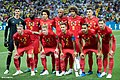 The Belgium national team line-up before the match against Brazil, 6 July 2018.jpg