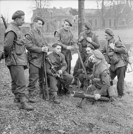 British soldiers of the King's Own Yorkshire Light Infantry in Elst, Netherlands on 2 March 1945 The British Army in North-west Europe 1944-45 B15008.jpg
