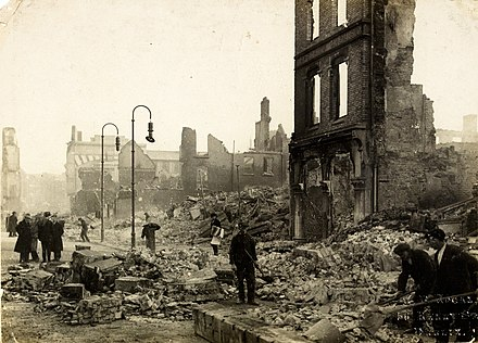 Aftermath of the burning of Cork by British forces The Burning of Cork (9713428703).jpg