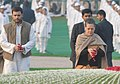 The Chairperson, National Advisory Council, Smt. Sonia Gandhi and the Member Parliament Shri Rahul Gandhi paying floral tributes at the Samadhi of the former Prime Minister.jpg