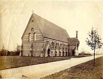 Reading School - The Chapel, Reading School, c. 1873