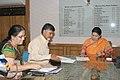 The Chief Minister of Andhra Pradesh, Shri Chandrababu Naidu meeting the Union Minister for Human Resource Development, Smt. Smriti Zubin Irani, in New Delhi on June 26, 2014 (1).jpg