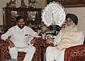 The Chief Minister of Punjab, Shri Prakash Singh Badal calls on the Union Minister of Chemicals & Fertilizers and Steel, Shri Ram Vilas Paswan, in New Delhi on April 18, 2007.jpg