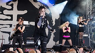 The Crüxshadows band that plays gothic rock