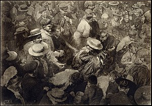 Oil print process - Oil print by Robert Demachy - A Crowd, 1910