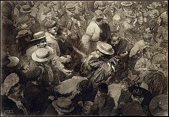 Oil print process - Oil print by Robert Demachy - A Crowd, 1910