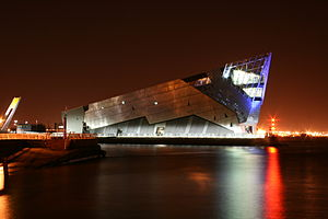 Kingston upon Hull - Image: The Deep, Hull at night