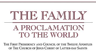 "The Family: A Proclamation to the World - ""The Family: A Proclamation to the World"" heading"