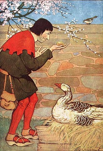 The Goose That Laid the Golden Eggs - The Goose That Laid the Golden Eggs, illustrated by Milo Winter in a 1919 edition