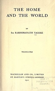 <i>The Home and the World</i> Bengali novel by Rabindranath Tagore