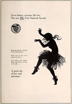 Teaser campaign - Teaser ad appearing a week before the release of the film The Idol Dancer (1920).