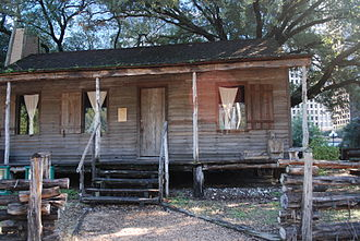 Sam Houston Park - The Old Place, the oldest remaining structure in Harris County, Texas