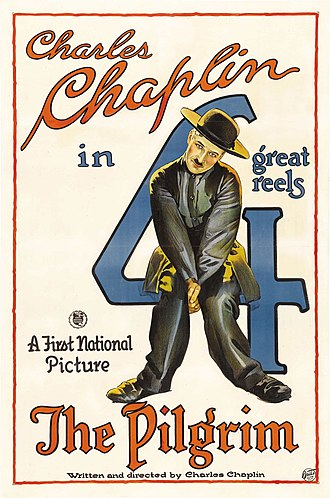 The Pilgrim (1923 film) - Theatrical release poster