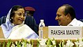 The President and Supreme Commander of the Armed Forces,, Smt. Pratibha Devisingh Patil in conversation with the Defence Minister, Shri A. K. Antony, at the inauguration of the Armed Forces Tribunal (AFT), in New Delhi.jpg