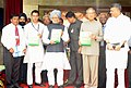 The Prime Minister, Dr Manmohan Singh releasing a book, at the Convocation of the IIT, Kanpur on July 03, 2010.jpg