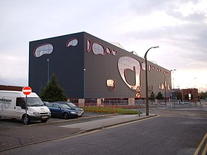Will Alsop - THEPUBLIC, West Bromwich. The design has been likened to a massive fish tank or a Fresian cow.