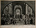 The School of Athens; a gathering of renaissance artists in Wellcome V0006835.jpg