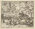 The Shepherd on Horseback Chases the Stag from Hendrick van Alcmar's Renard The Fox MET DP837678.jpg
