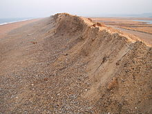 long ridge of shingle