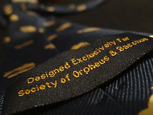 The Society of Orpheus and Bacchus - Image: The Society of Orpheus & Bacchus, Custom Necktie