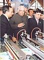 The Speaker, Lok Sabha, Shri Somnath Chatterjee visits Plast India Exhibition, at Pragati Maidan, in New Delhi on February 08, 2009.jpg