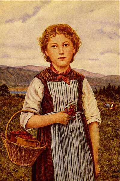 File:The Strawberry Girl - Albert Anker.png