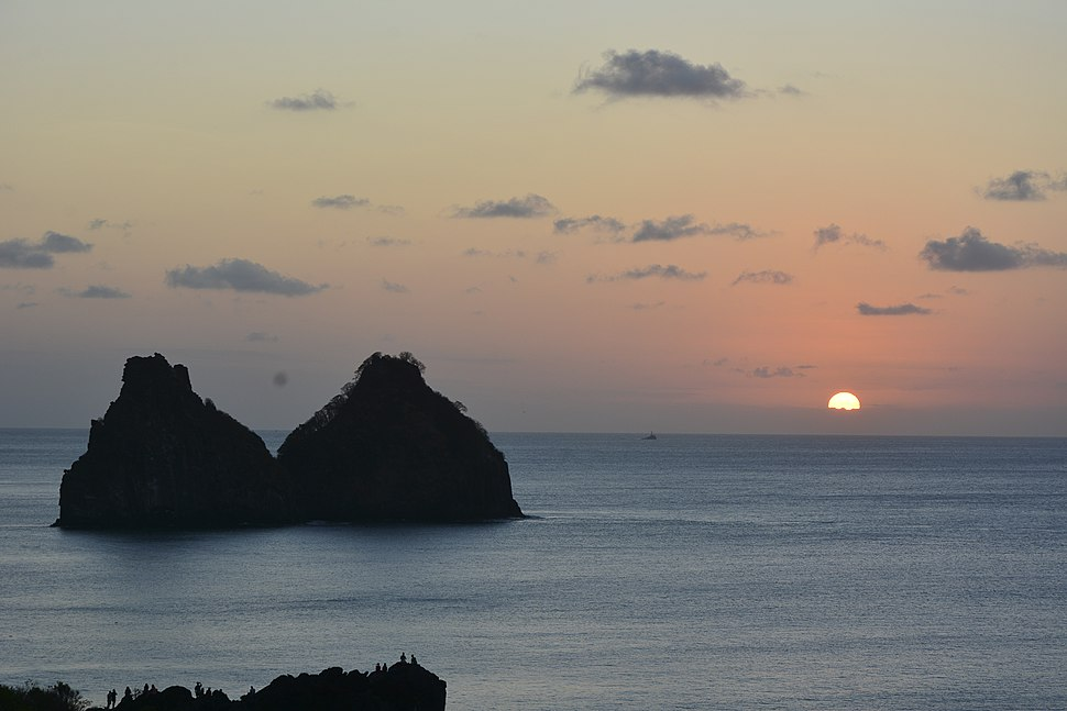The Two Brothers Rock in Brazil's Fernando de Noronha archipelago
