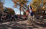 The U.S. Army Reserve Command honor guard marches on Hay St. during the 2012 Fayetteville Veterans Day parade, Nov. 10, 2012, in Fayetteville, N.C. The annual parade featured Soldiers with the U.S. Army Reserve 121110-A-XN107-650.jpg