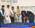 The Union Minister for Electronics & Information Technology and Law & Justice, Shri Ravi Shankar Prasad at the ground breaking ceremony of the Samsung India, in Noida, Uttar Pradesh.jpg