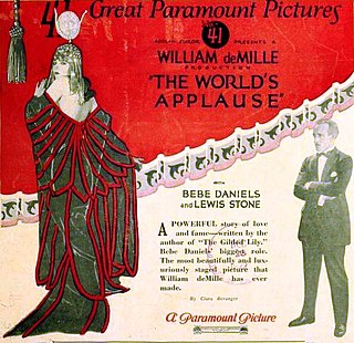 <i>The Worlds Applause</i> 1923 film by William C. deMille