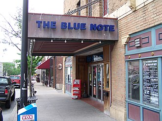 Columbia, Missouri - The Blue Note, a rock and pop venue downtown.
