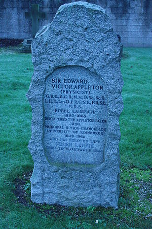 Edward Victor Appleton - The grave of Sir Edward Victor Appleton, Morningside Cemetery, Edinburgh