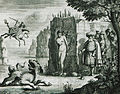The myth of Perseus In Ethiopia, Perseus is saving Andromeda from the sea monster Kitos On the right, Andromeda's parent - Dapper Olfert - 1688.jpg