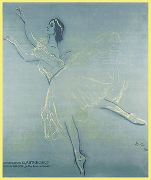 Les Sylphides - Anna Pavlova in Les Sylphides, 1909