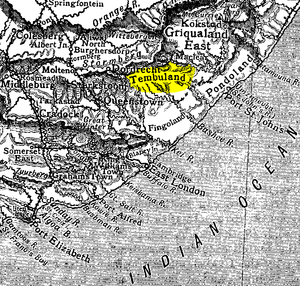 Thembuland - Image: Thembuland Eastern Cape Map 1911