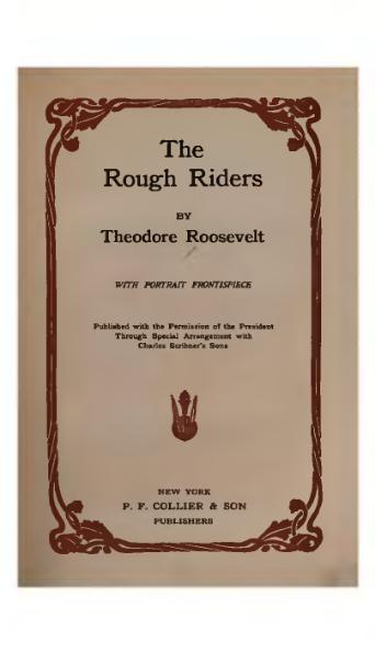 File:Theodore Roosevelt Rough Riders.djvu