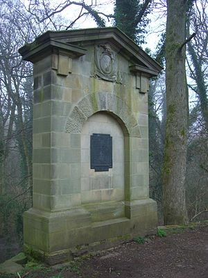 Thomas Boulsover - The Thomas Boulsover memorial at Wire Mill Dam