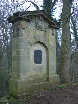 Fulwood, Sheffield - The Thomas Boulsover memorial at Wire Mill Dam
