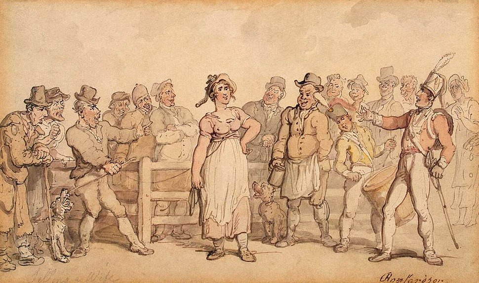 Thomas Rowlandson - Selling a Wife - WGA20172