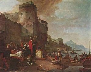 Thomas Wijck - Italian Port, c. 1640