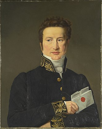Johan Gunder Adler - Johan Gunder Adler, painting by C.W. Eckersberg